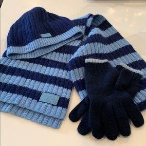 Coach outdoor accessories - scarf, hat & gloves